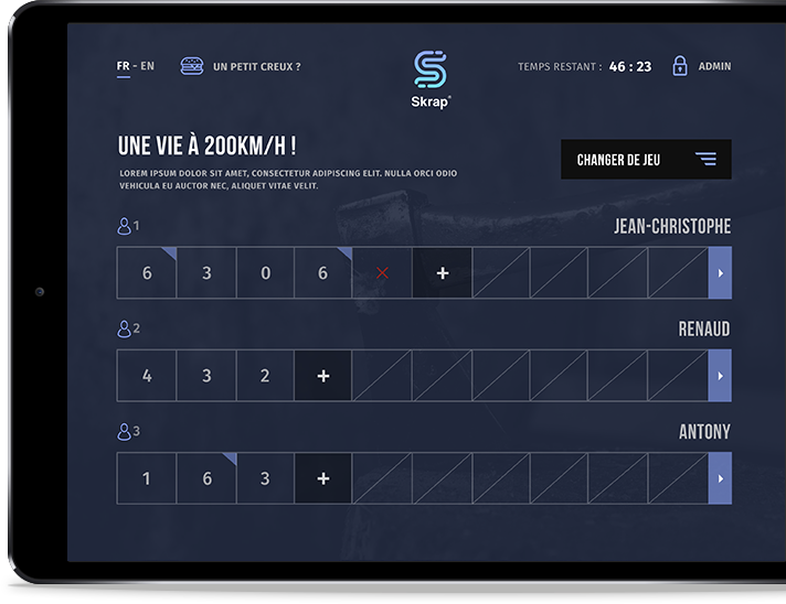 Notre application sur iPad